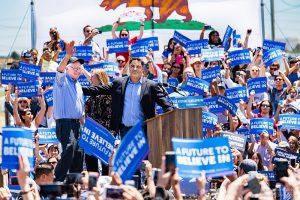 Meeting de Bernie Sanders, mai 2016 en Californie