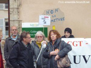 Chartres Collège Jean-Moulin Rassemblement 13-12-2017 b