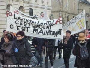 Châteaudun Manif Maternité 16-12-2017 c