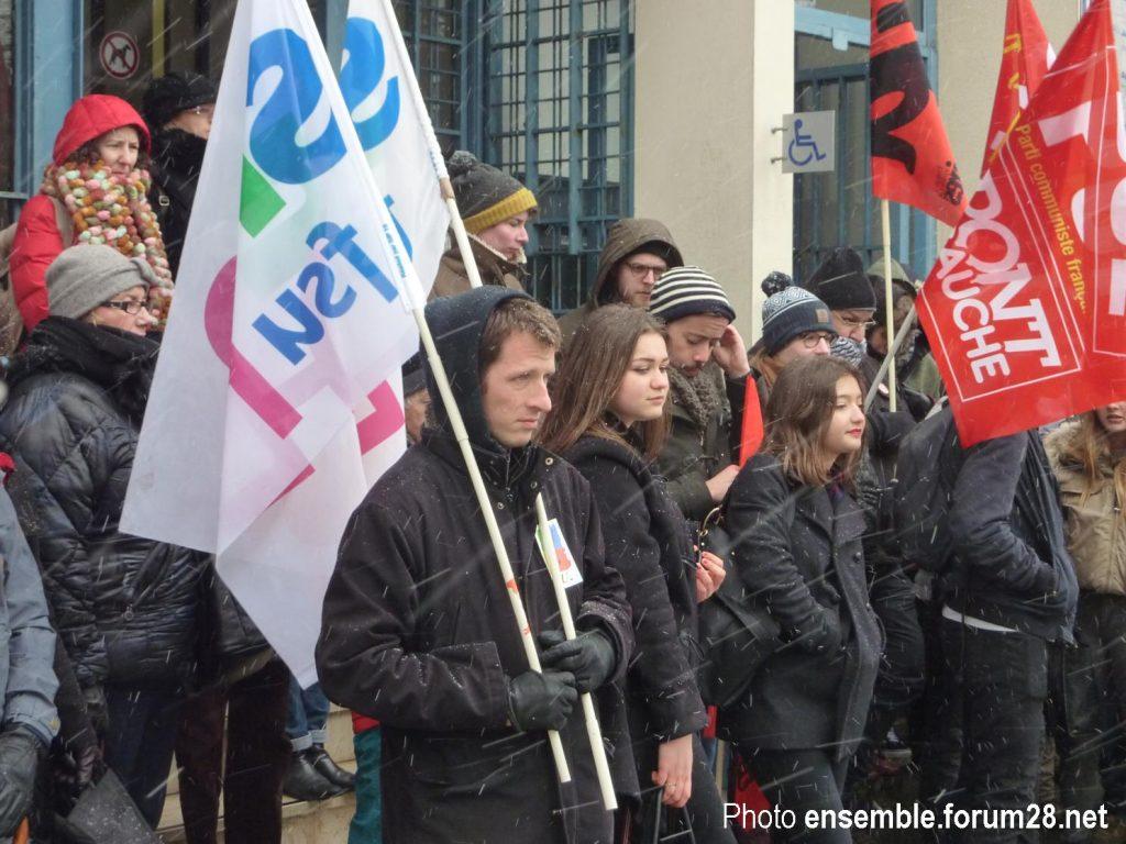 Chartres Rassemblement Grève Lycées Collèges 06-02-2018 SNES CGT SUD SGL 1
