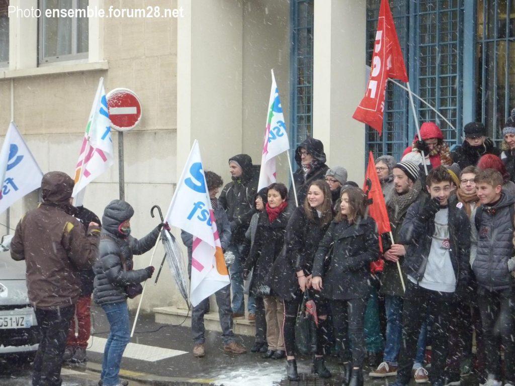 Chartres Rassemblement Grève Lycées Collèges 06-02-2018 SNES CGT SUD SGL 3