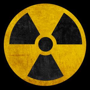 Logo Danger nucléaire Rond positif