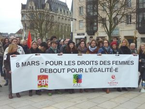 2017-03-08 Rassemblement Féministe CGT FSU Planning-familial Chartres