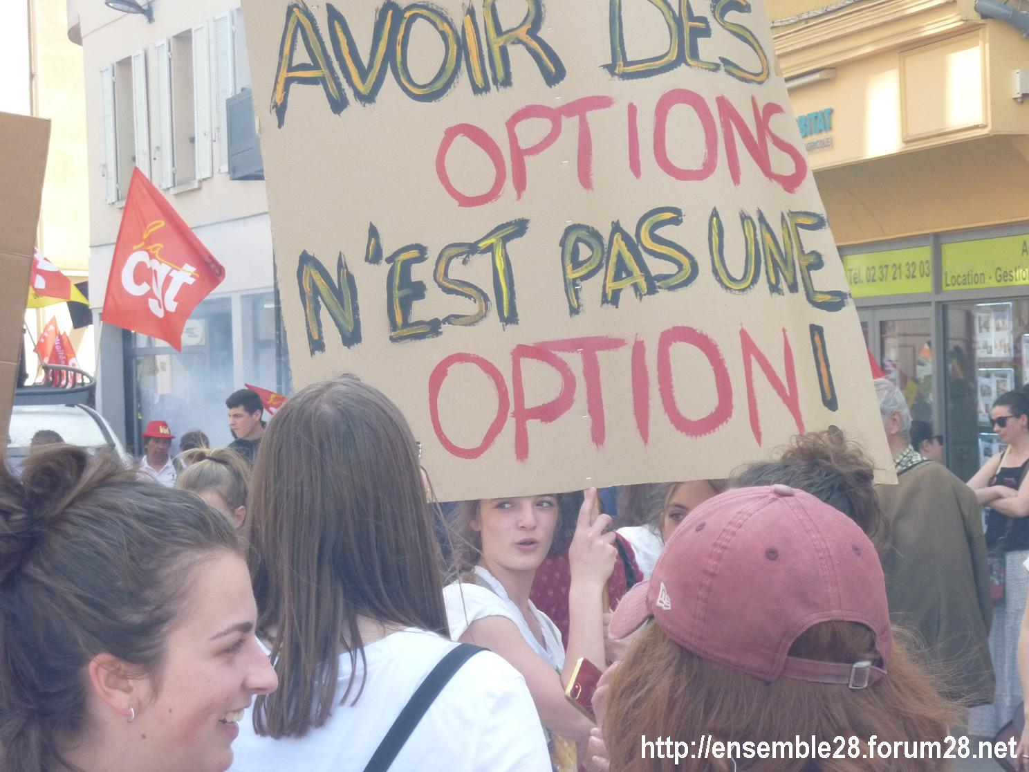 19-04-2018 Chartres Manifestation Interprofessionnelle CGT Solidaires SNES-FSU n°06