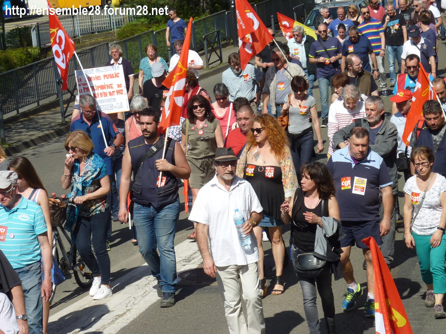 19-04-2018 Chartres Manifestation Interprofessionnelle CGT Solidaires SNES-FSU n°13
