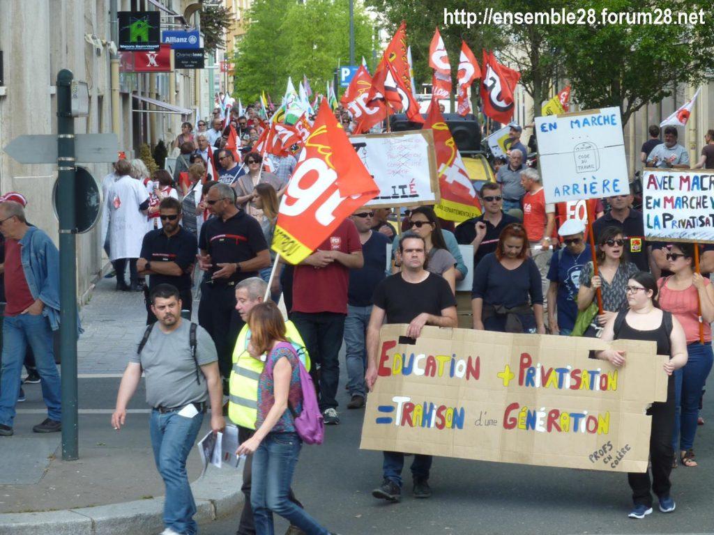 2018-05-22 Chartres Manifestation Fonction-publique 04