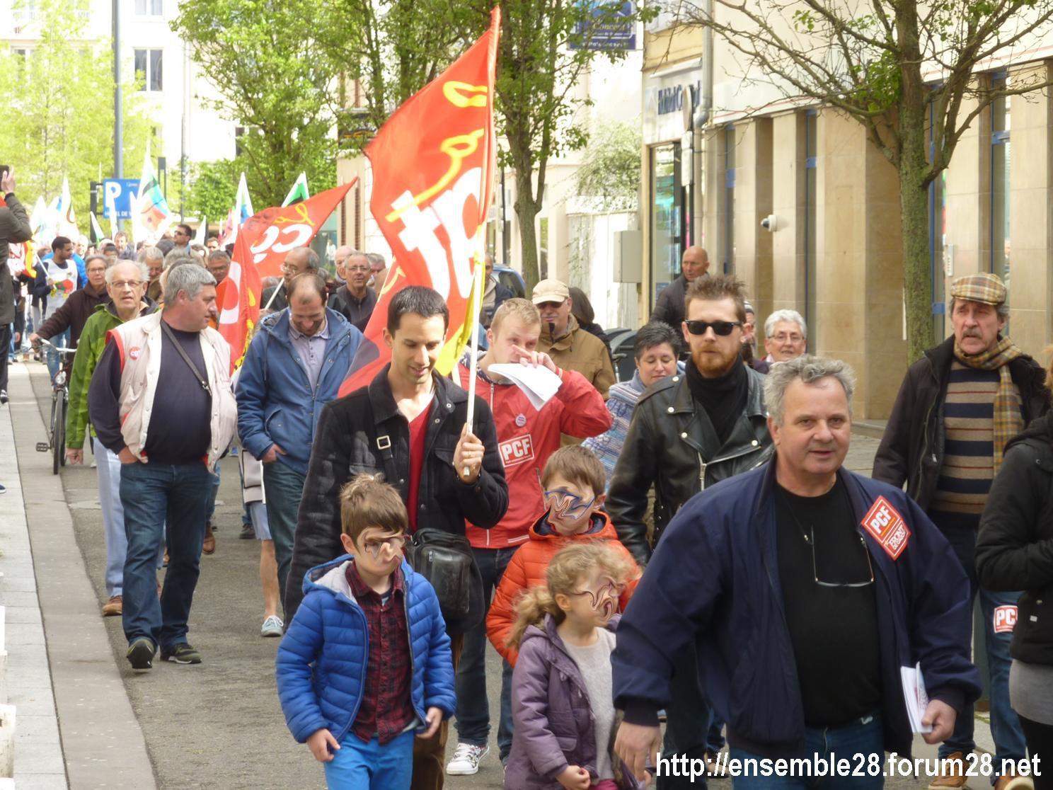 Chartres 1er-Mai-2018 Manifestation CGT FSU 03