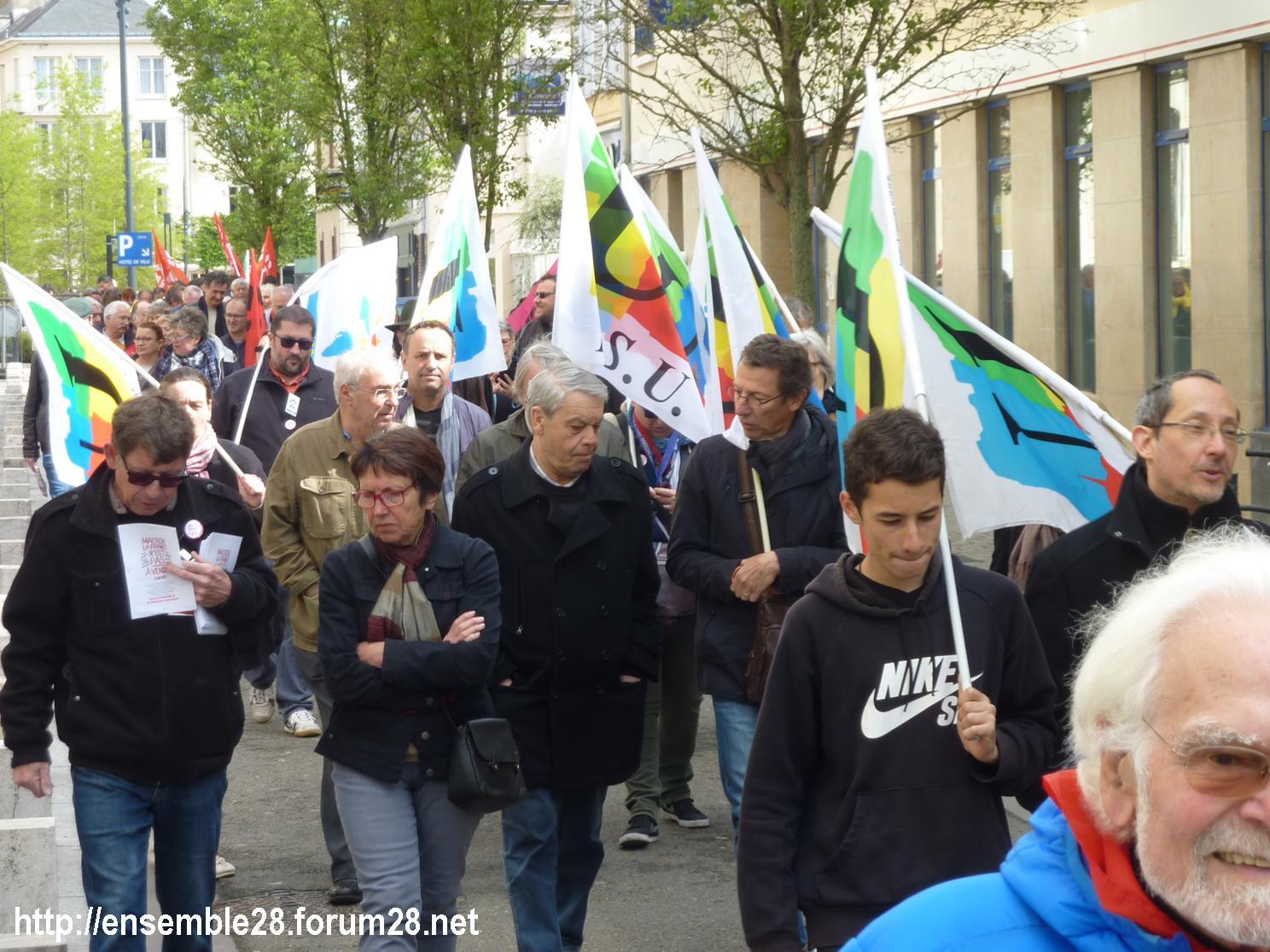 Chartres 1er-Mai-2018 Manifestation CGT FSU 04