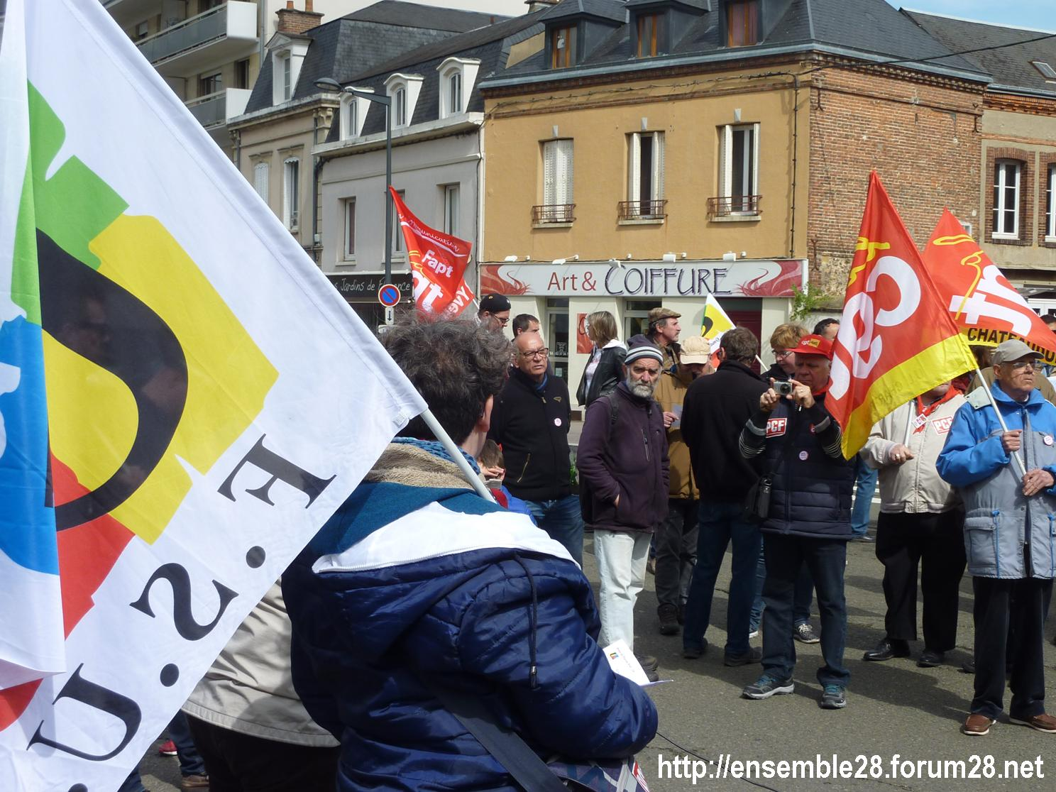 Chartres 1er-Mai-2018 Manifestation CGT FSU 10