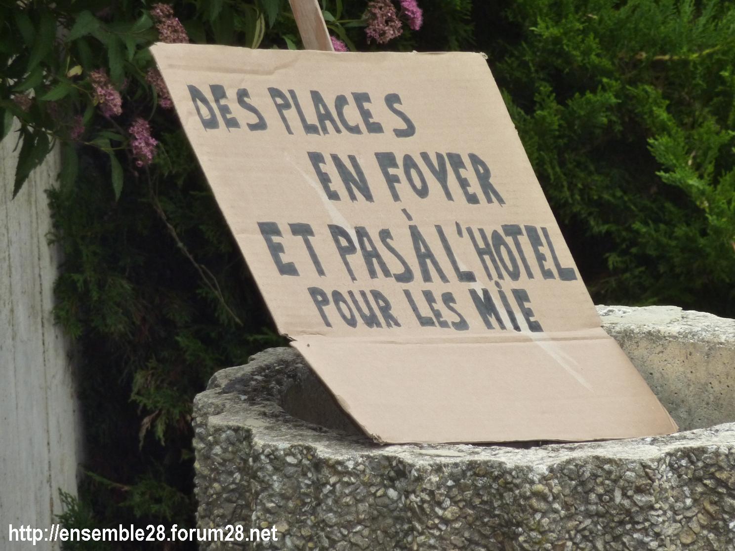 Chartres 13-06-2018 Devant l'ASE Mineurs étrangers 5