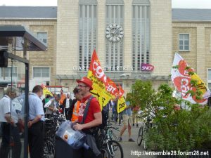 Chartres 18-06-2018 Manifestation CGT Cheminots 01