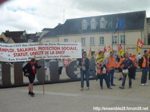 Chartres 18-06-2018 Manifestation CGT Cheminots 04
