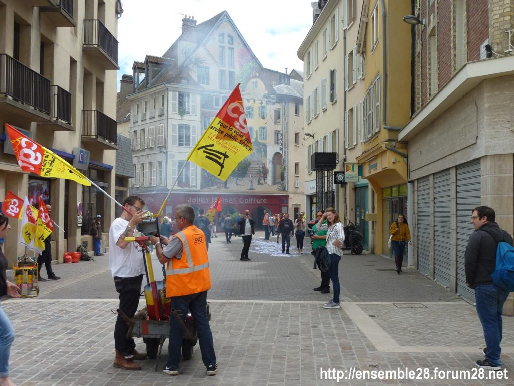 Chartres 18-06-2018 Manifestation CGT Cheminots 05
