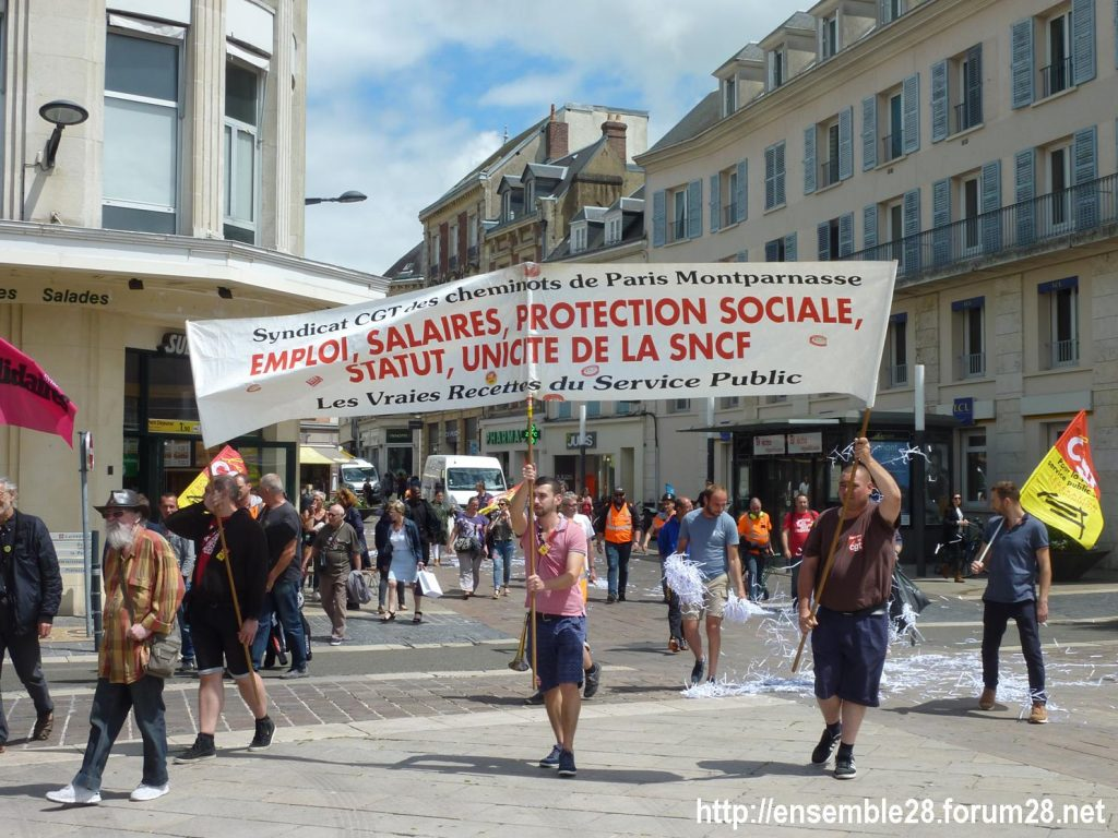 Chartres 18-06-2018 Manifestation CGT Cheminots 08