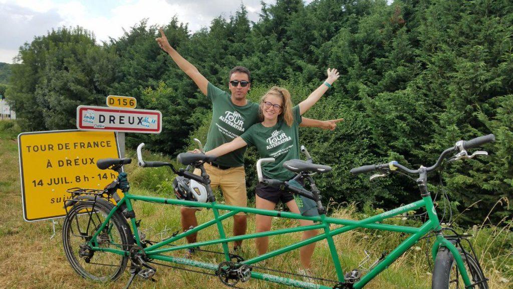 Alternatiba 2018 Dreux Tour de France Amélie et YY