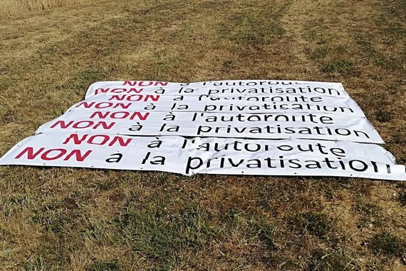 Champhol Non à la privatisation de la RN154 Tour-de-France-2018