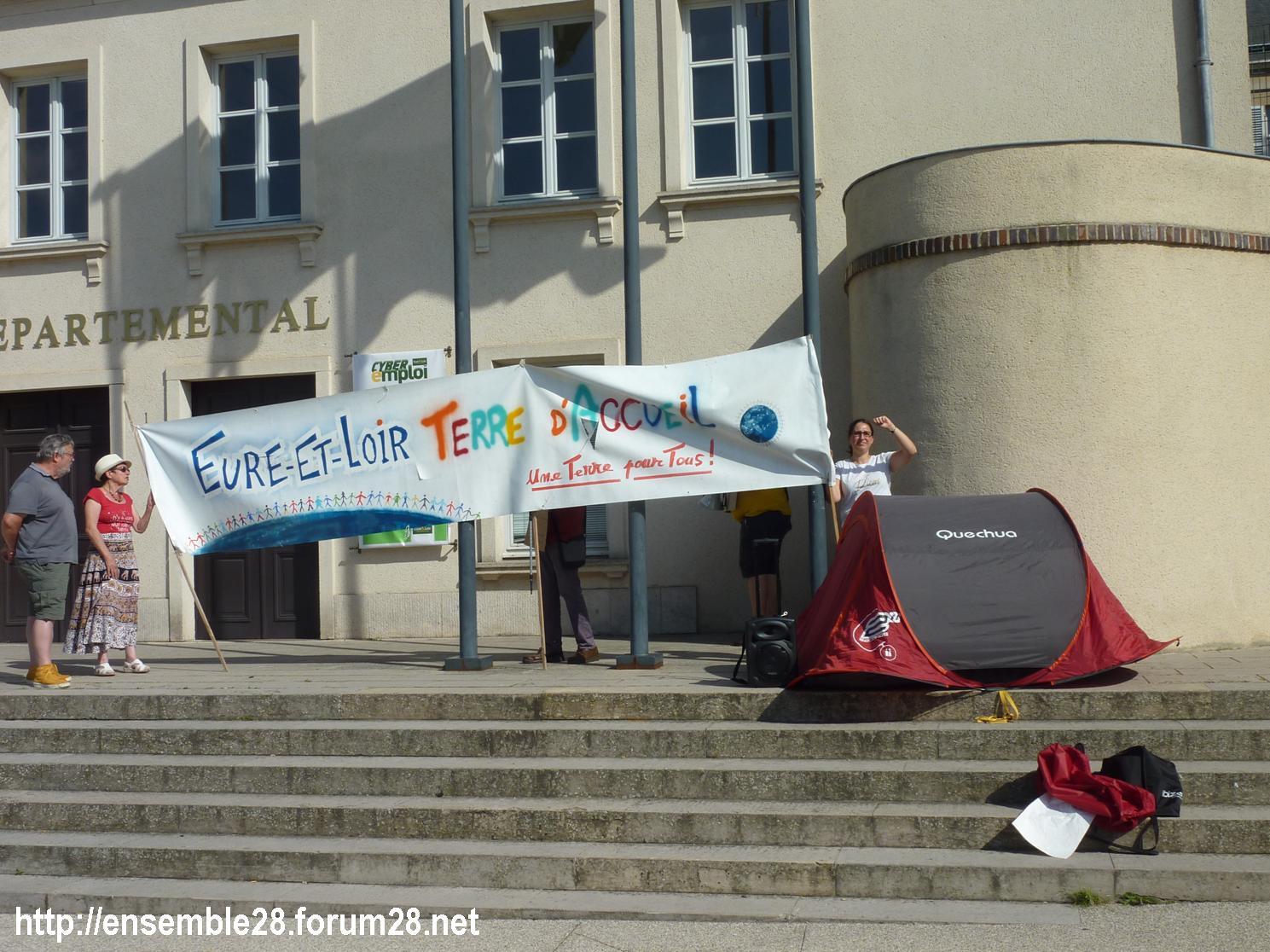 Chartres 04-07-2018 Rassemblement CRSP28 E&L-Terre-d'Accueil Conseil-départemental 07