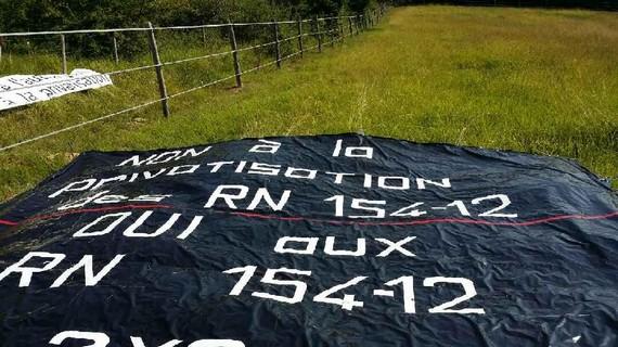 Fermaincourt Non à la privatisation de la RN154 Tour-de-France-2018 1