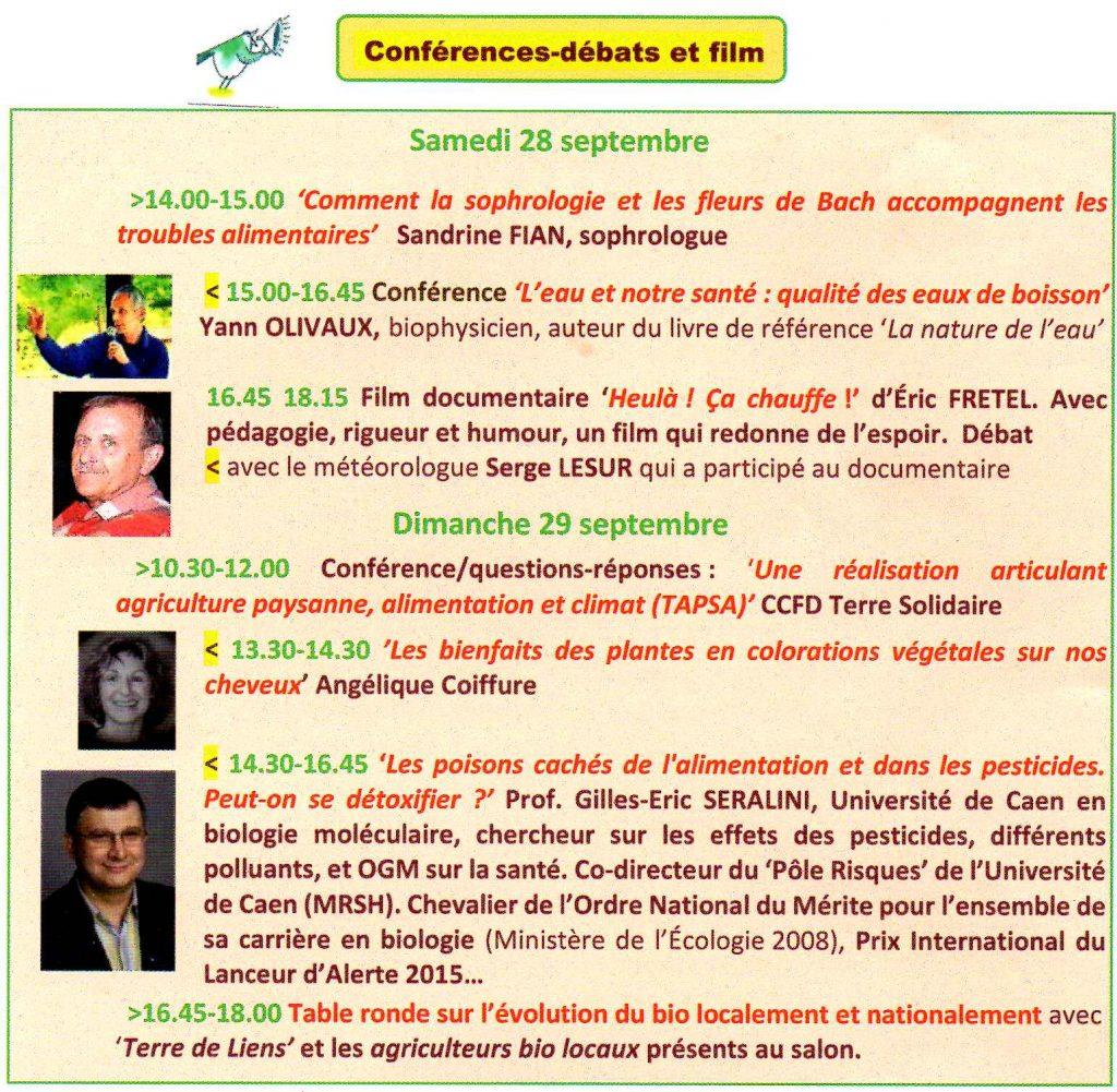 AVERN Salon écolo et bio 2019 Chérisy Conférences