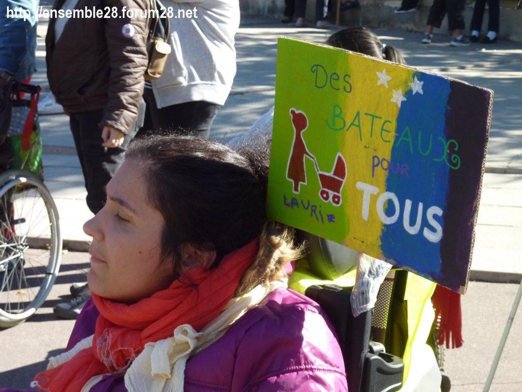 Chartres 26-09-2018 manifestation APF-France-Handicap Accessibilité 04