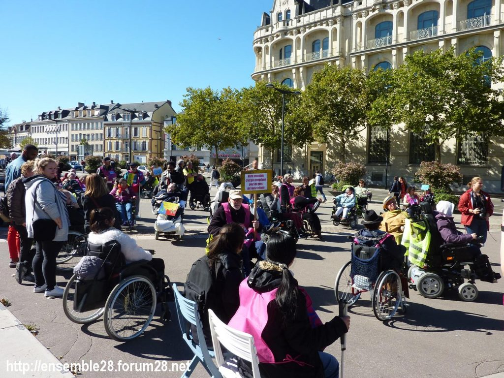 Chartres 26-09-2018 manifestation APF-France-Handicap Accessibilité 07