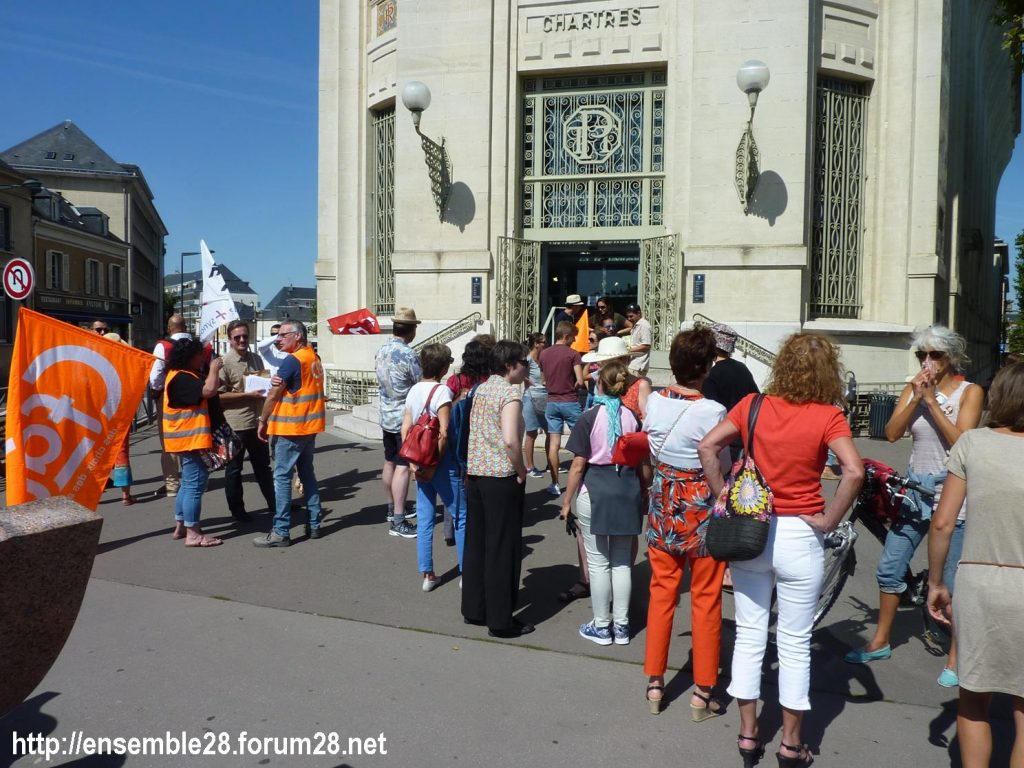 Chartres Médiathèque Apostrophe 02-09-2018 Rassemblement Intersyndicale 1