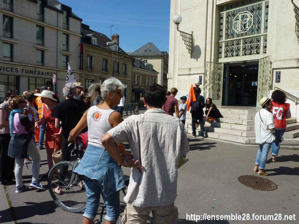 Chartres Médiathèque Apostrophe 02-09-2018 Rassemblement Intersyndicale 2