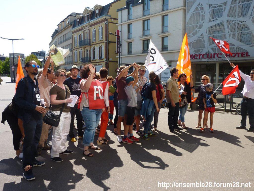 Chartres Médiathèque Apostrophe 02-09-2018 Rassemblement Intersyndicale 4