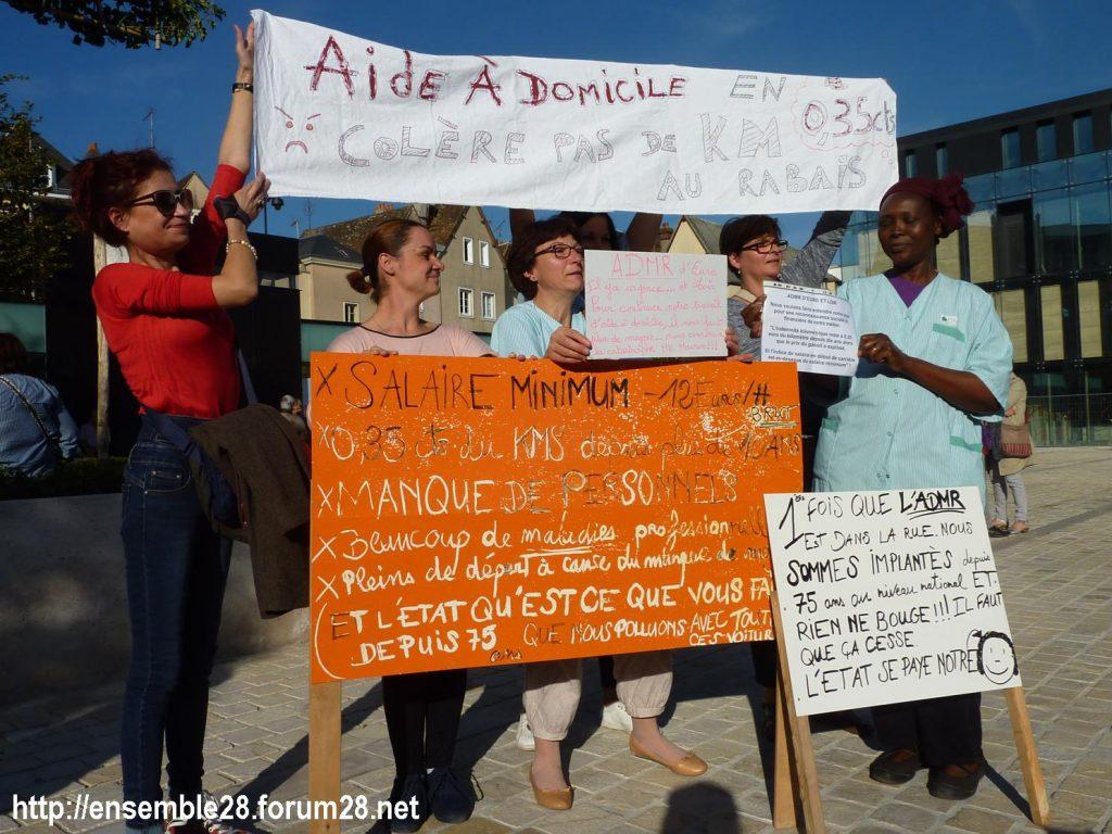 09-10-2018 Chartres Manifestation Interprofessionnelle 01 ADMR