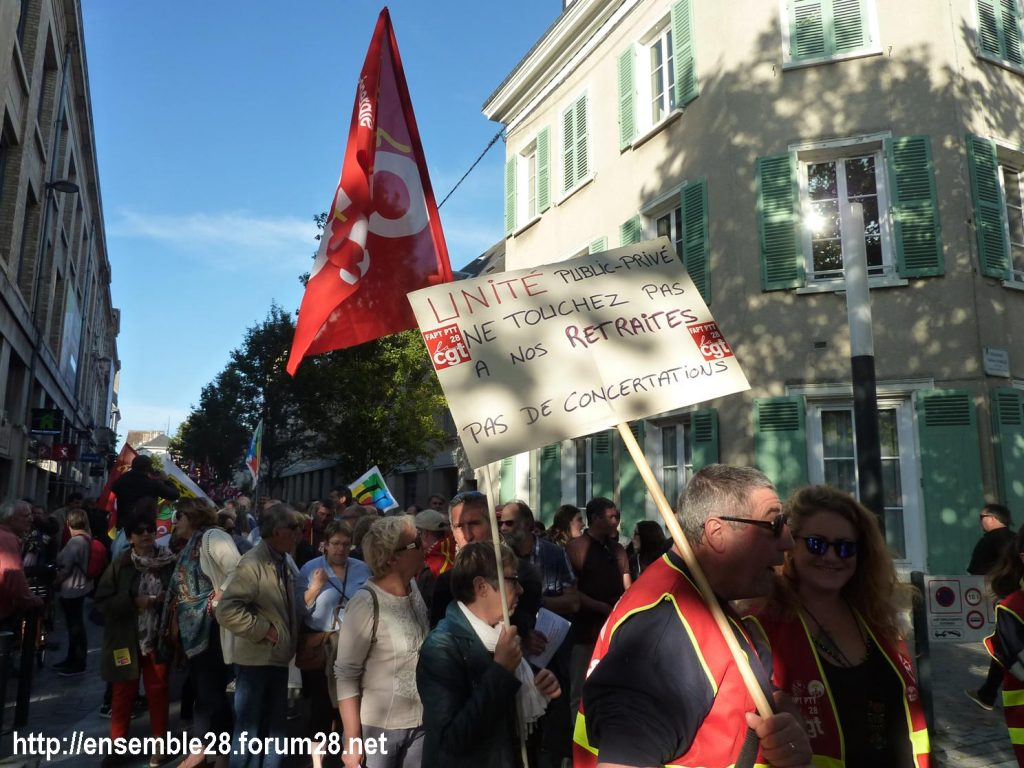 09-10-2018 Chartres Manifestation Interprofessionnelle 02