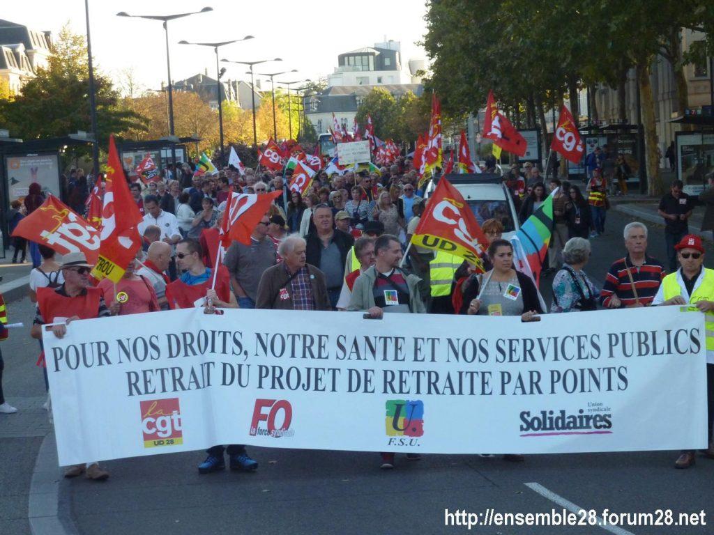 09-10-2018 Chartres Manifestation Interprofessionnelle 04