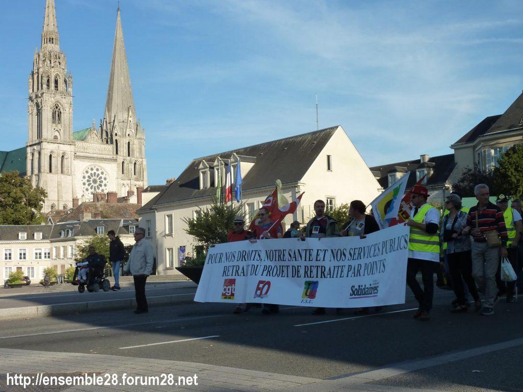09-10-2018 Chartres Manifestation Interprofessionnelle 05