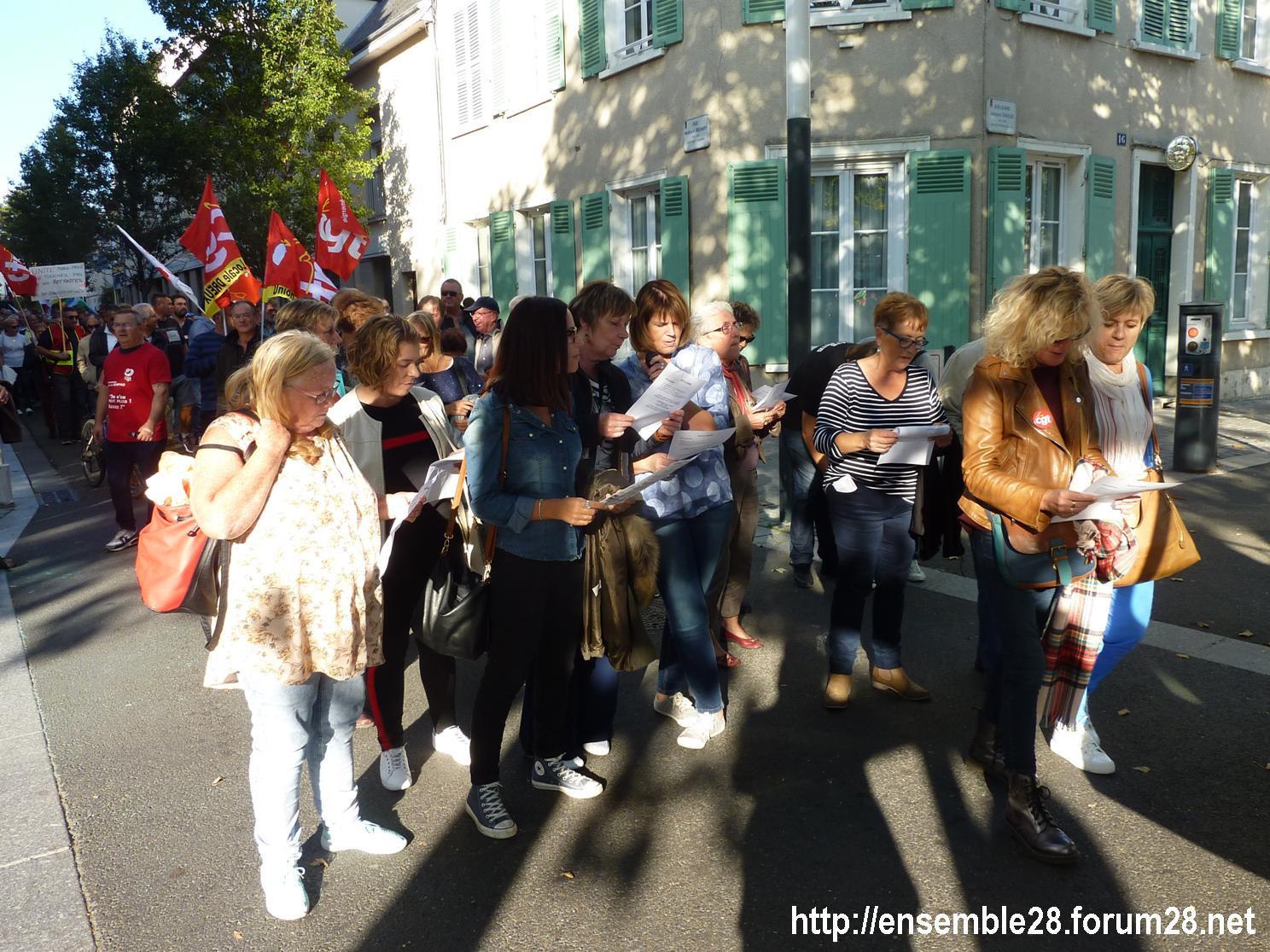 09-10-2018 Chartres Manifestation Interprofessionnelle 10