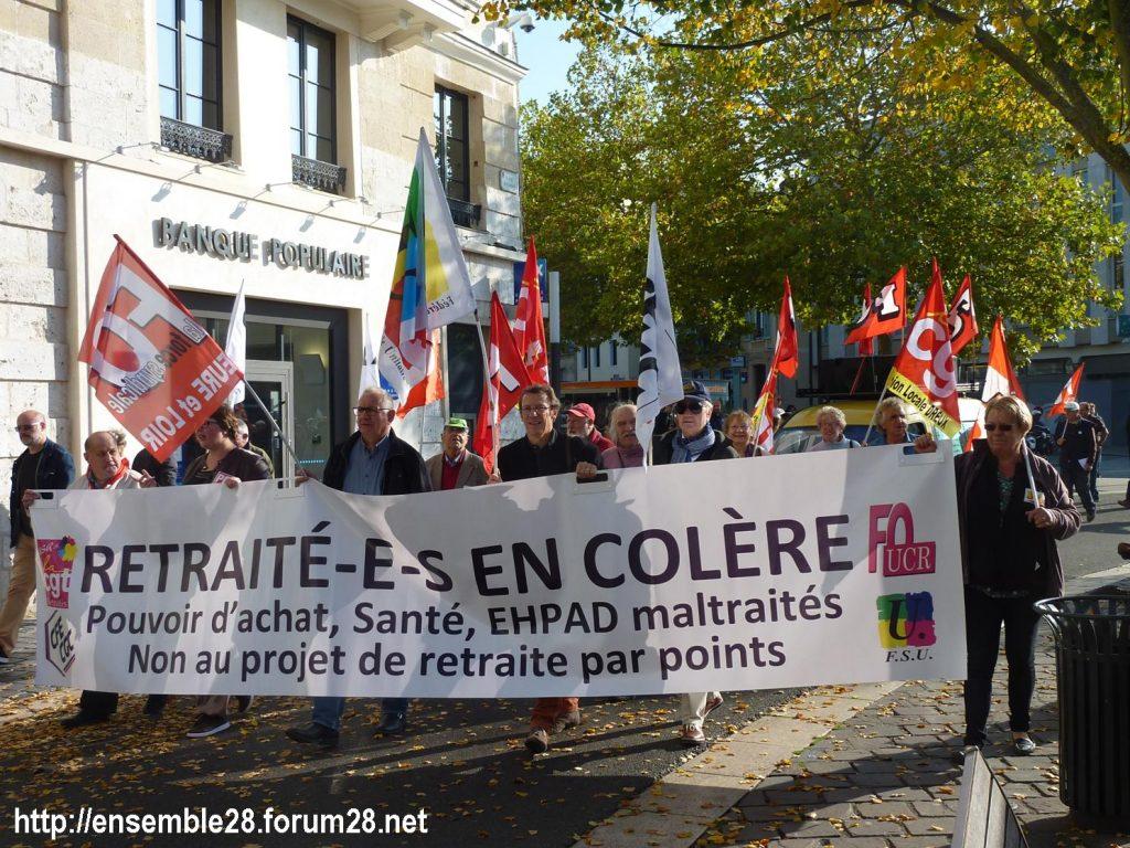Chartres 18-10-2018 Manifestation Retraités 07