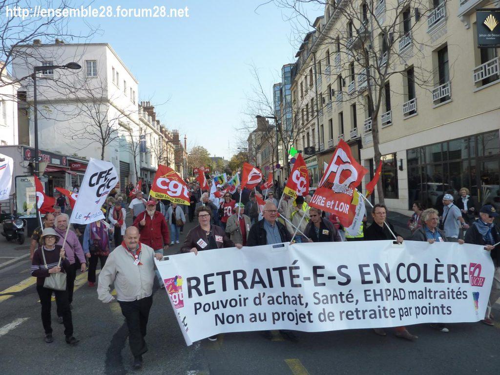 Chartres 18-10-2018 Manifestation Retraités 11