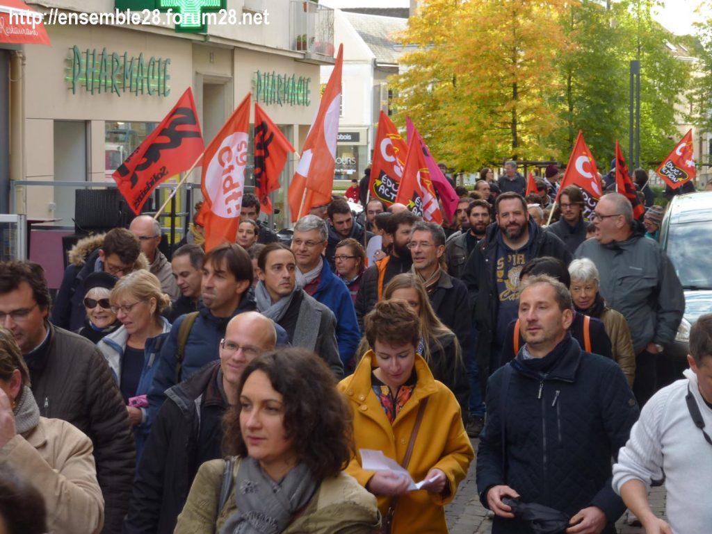 Chartres 12-11-2018 Manifestation Éducation-nationale FSU SGEN-CFDT UNSA-Éducation 03