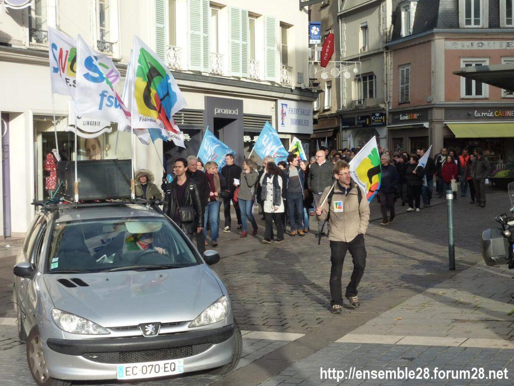 Chartres 12-11-2018 Manifestation Éducation-nationale FSU SGEN-CFDT UNSA-Éducation 05