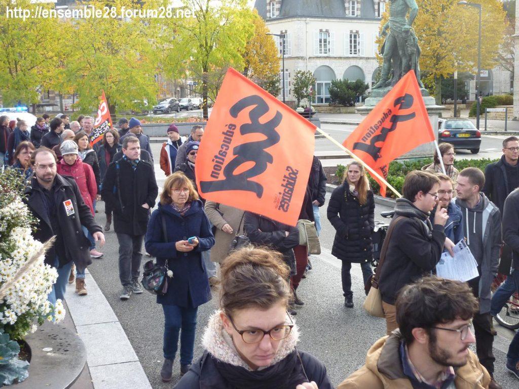 Chartres 12-11-2018 Manifestation Éducation-nationale FSU SGEN-CFDT UNSA-Éducation 08