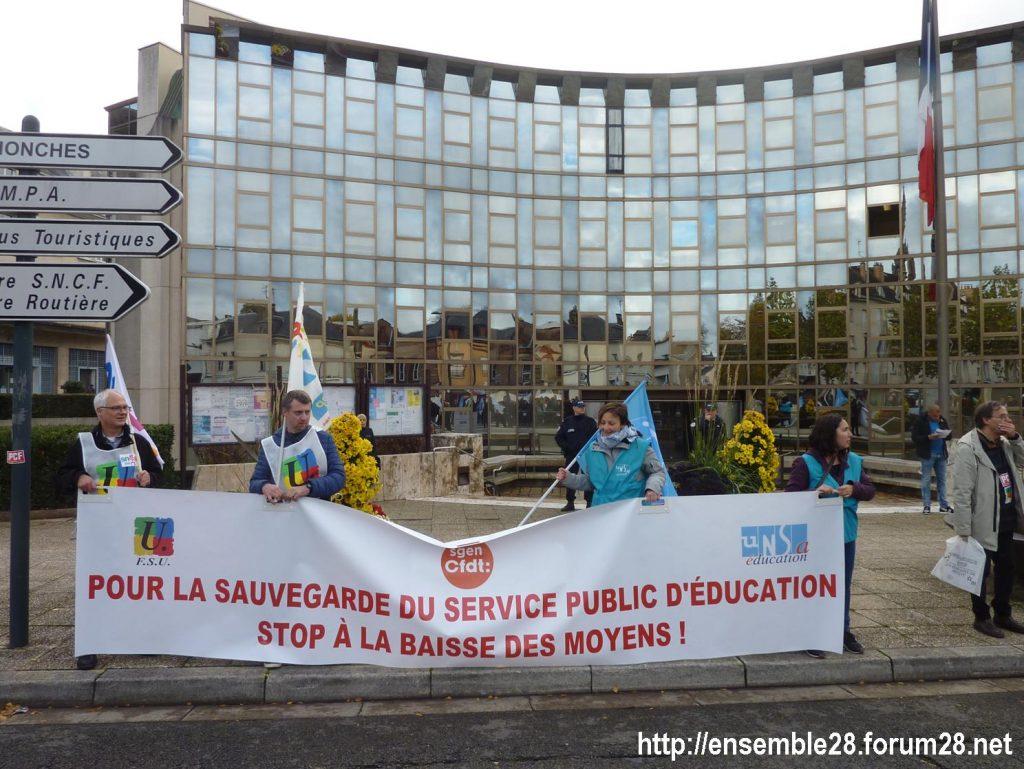 Chartres 12-11-2018 Manifestation Éducation-nationale FSU SGEN-CFDT UNSA-Éducation 11