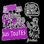 Medias Gilets jaunes et Femmes violettes