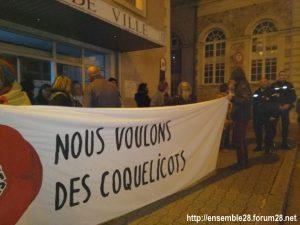 Nogent-le-Rotrou 02-11-2018 Rassemblement-antipesticides Nous-voulons-des-coquelicots Photo 2