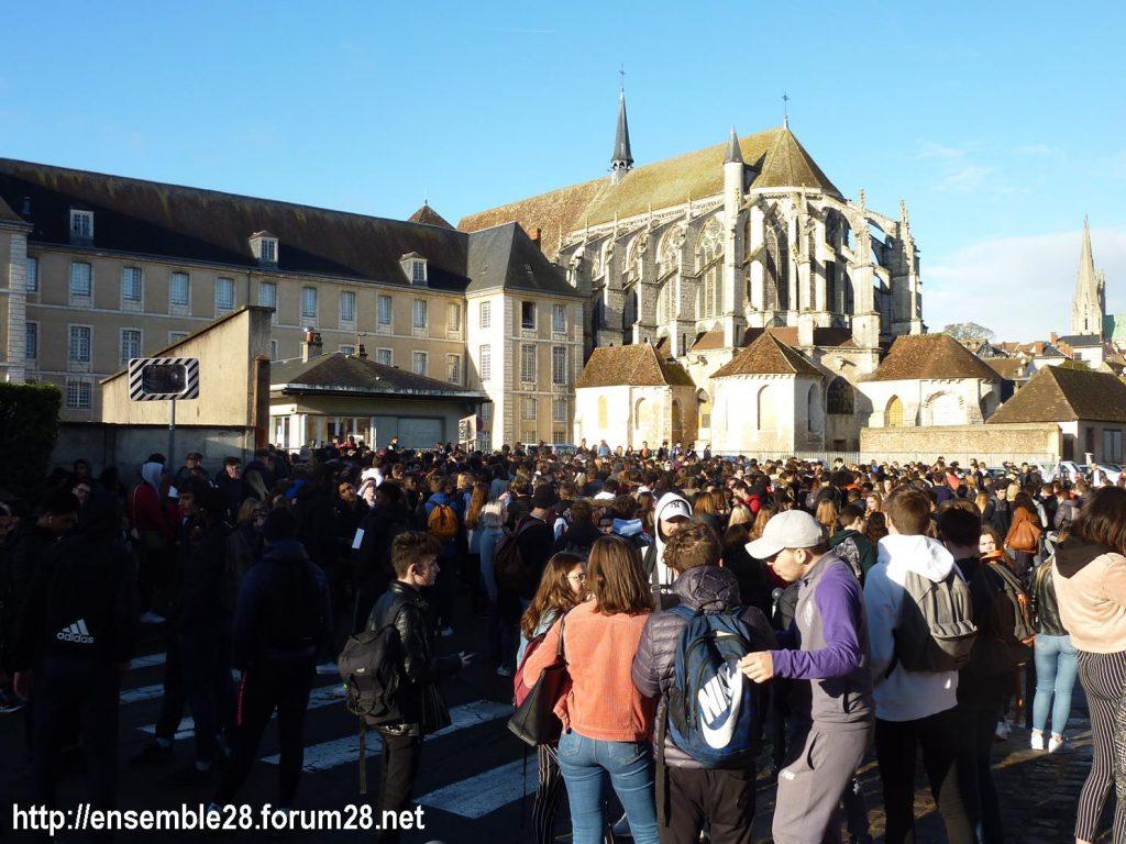 Chartres 04-12-2018 Manifestation Lycéens Parcoursup 01