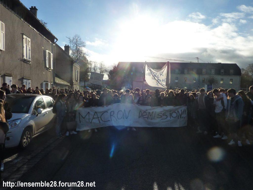 Chartres 04-12-2018 Manifestation Lycéens Parcoursup 02