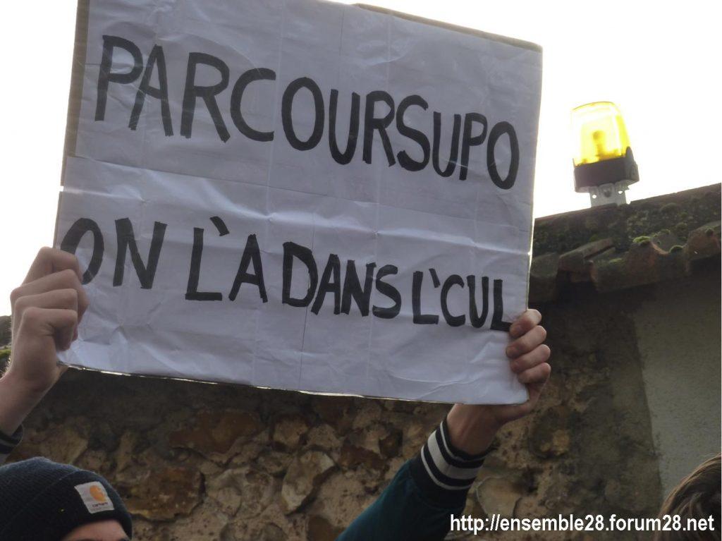 Chartres 04-12-2018 Manifestation Lycéens Parcoursup 06