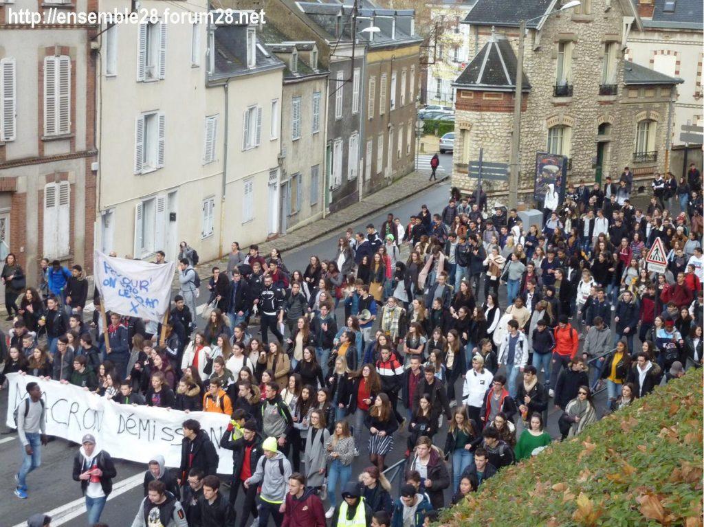 Chartres 04-12-2018 Manifestation Lycéens Parcoursup 08