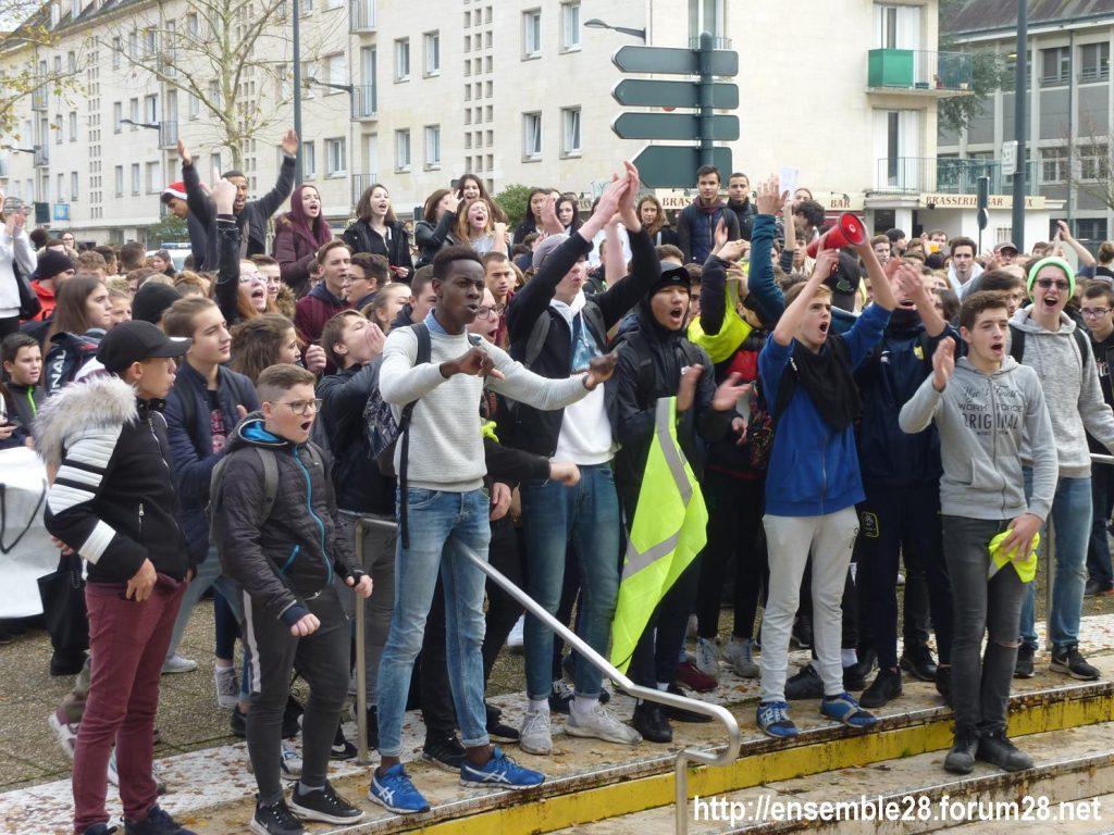 Chartres 04-12-2018 Manifestation Lycéens Parcoursup 12