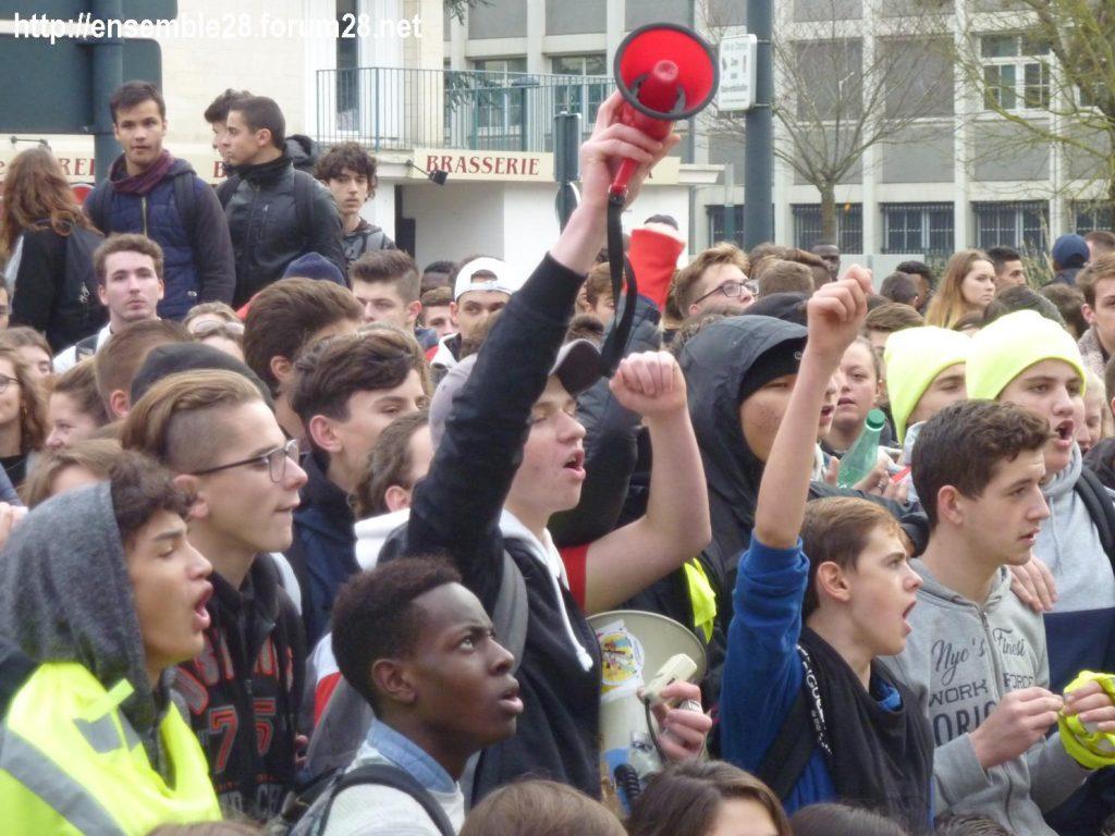 Chartres 04-12-2018 Manifestation Lycéens Parcoursup 13