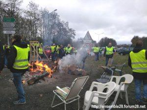 Nogent-le-Rotrou 24-11-2018 Gilets Jaunes 4