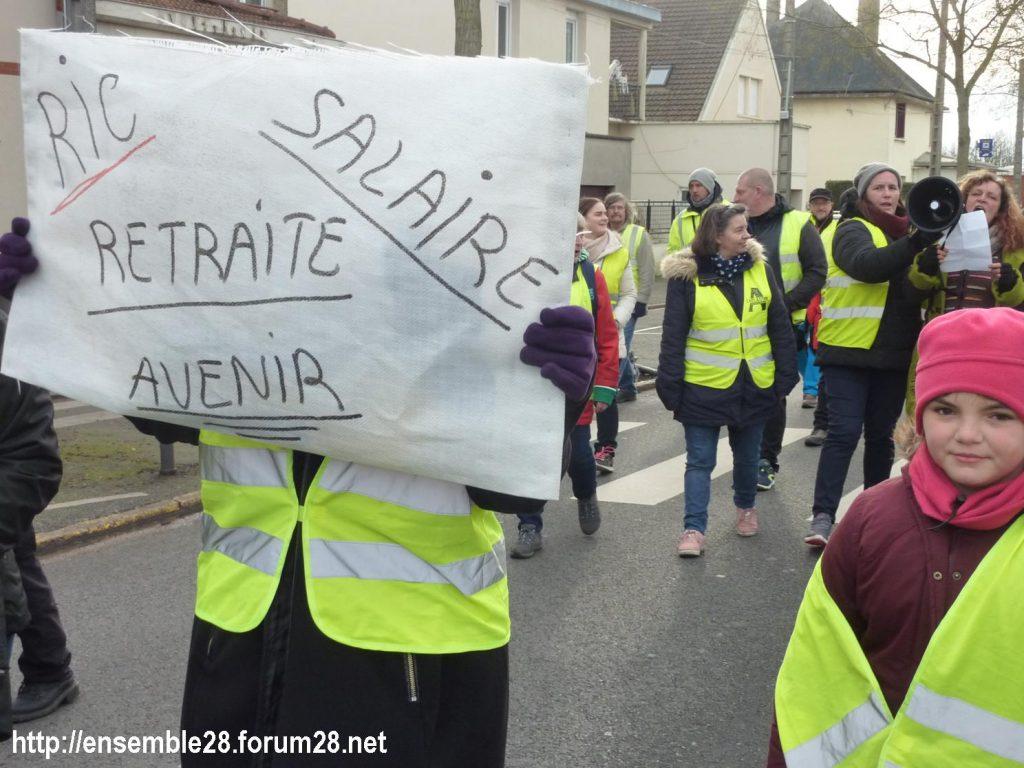 Chartres 12-01-2019 Manifestation Gilets-Jaunes 07