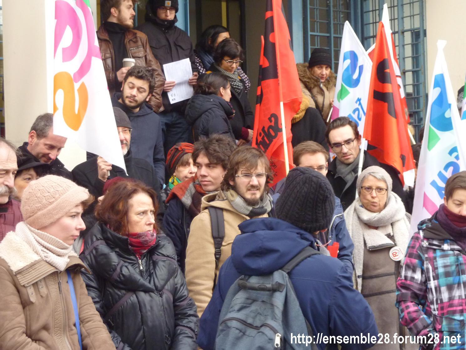 Chartres 24-01-2019 Rassemblement Professeurs Second-Degré SNES-FSU SNFOLC SUD-Éducation CGT-Éducaction 2